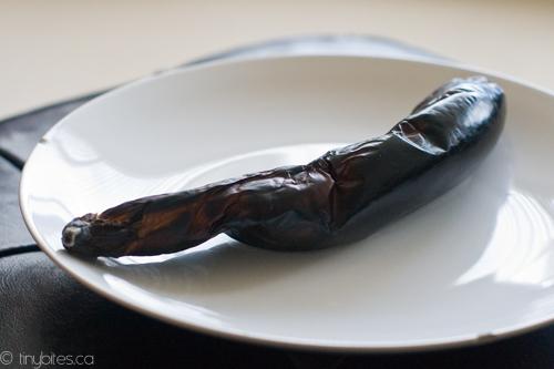 Step 1: Torch eggplant
