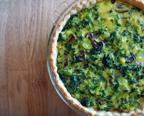 broccoli quiche.