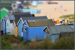Beach Huts (carpentry) Tags: sea christchurch beach coast seaside harbour huts hut coastal dorset beachhut bournemouth beachhuts hengistbury mudeford sandspit tiltshift