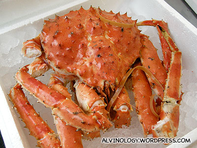Fresh Japanese king crab
