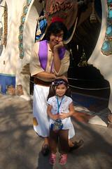 Amanda with Aladdin