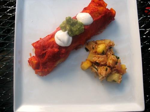 Sweet & Citrus Veggie Enchiladas