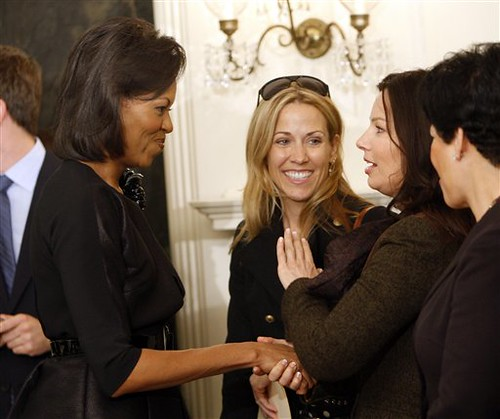 Michelle Obama, Sheryl Crow and Fran Drescher