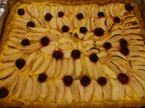crostata croccante mele e lamponi