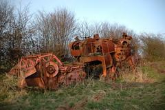 Dead combine in the weeds (fryske) Tags: abandoned rust rusty lorry scrapyard scrap derelict