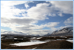 The heaven and earth of valley Hrgrdalur (joningic) Tags: winter sky snow mountains nature clouds iceland hrgrdalur aplusphoto citrit qualitypixels