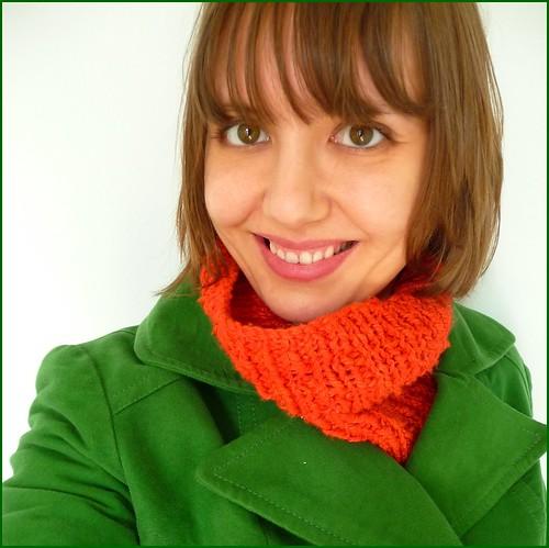 orange cotton cowl