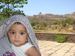 Aten at Ratangad base (Ankur P) Tags: kids twins babies fraternal bhandardara