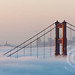 Foggy San Francisco & Golden Gate Bridge Sunrise by jimgoldstein