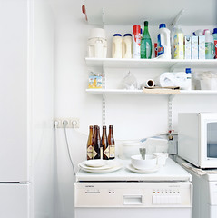 (Everything and the rest) Tags: white kitchen bottle fridge pierre microwave washingmachine detergent portravc160 rolleiflex6008