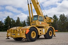 Grove Rough Terrain crane (EquipmentSpotter) Tags: construction marine michigan logging gravel