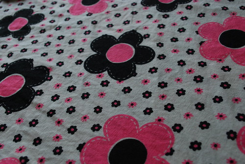 pink and black flowers