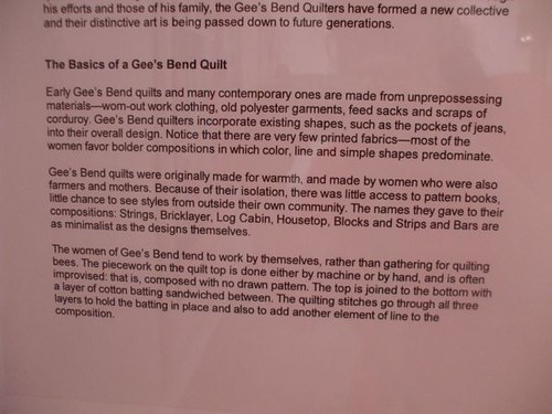 Quilts of Gee's Bend show overview