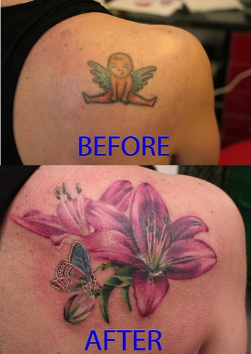 tattoo cover up with lily by MIrek