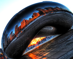 Yet another bean photo (kern.justin) Tags: park winter cloud chicago skyline sunrise nikon gate millenium bean explore cloudgate frontpage hdr chicagoist blueribbonwinner photomatix bej mywinners d700 rubyphotographer ubej kernjustin wwwthewindypixelcom