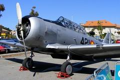 C.6-124 / 421 - 45 - North American T-6D Texan - Ejército del Aire Español (Fotos J.A.) Tags: festival aereo vigo avion exposicion samil estatica s5800