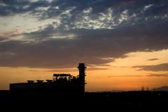 Burbank Water and Power (dogwelder) Tags: california sunset sky orange building silhouette clouds july burbank zurbulon6 2009 departmentofwaterandpower zurbulon