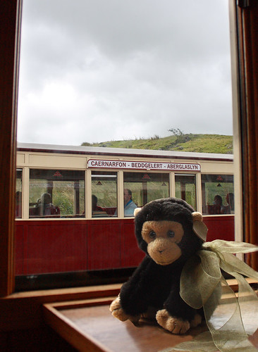 George on the Welsh Highland Railway