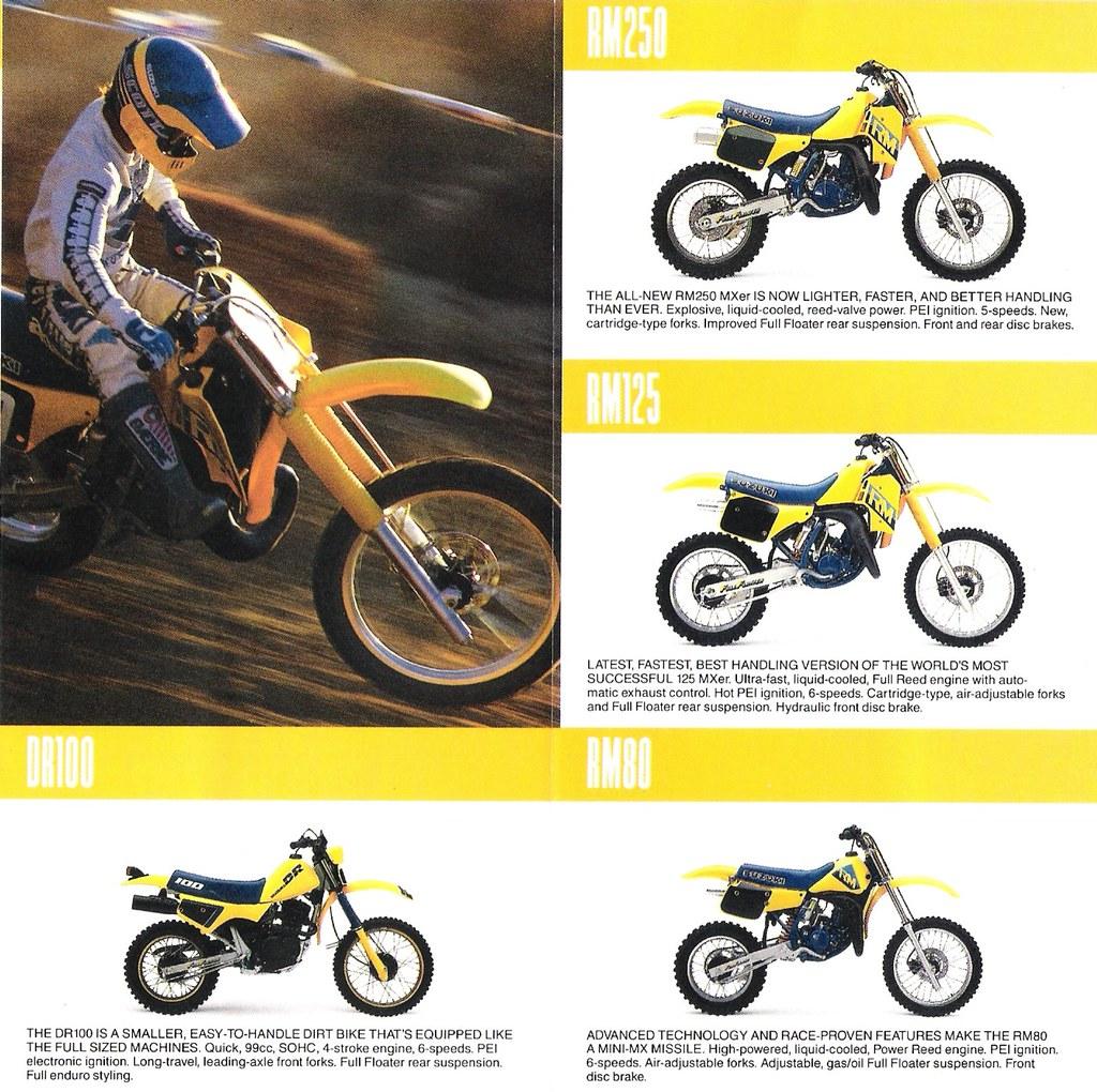 1987 Suzuki RM Motocross Bikes