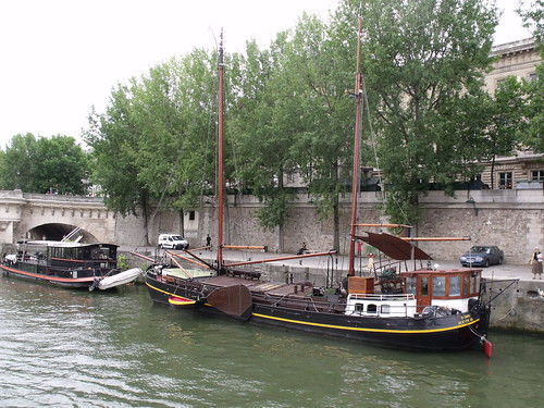 "Boats on the Seine near the Palais ""Monnaie de Paris"""