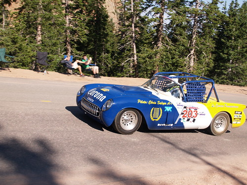 Colorado Springs 87th Annual Pikes Peak International Hill Climb July 19 2009 Vintage Race Car Protruck Division Mini Sprint Open Wheel 750cc Pro Class 450cc SuperMoto 250cc Sidecar Time Attack Big Rig Stock 1205cc Quads Exhibition Unlimited P7191300