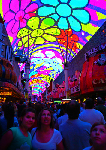 image of the free freemont street experience in Las Vegass