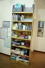 bookshelf organizing AFTER