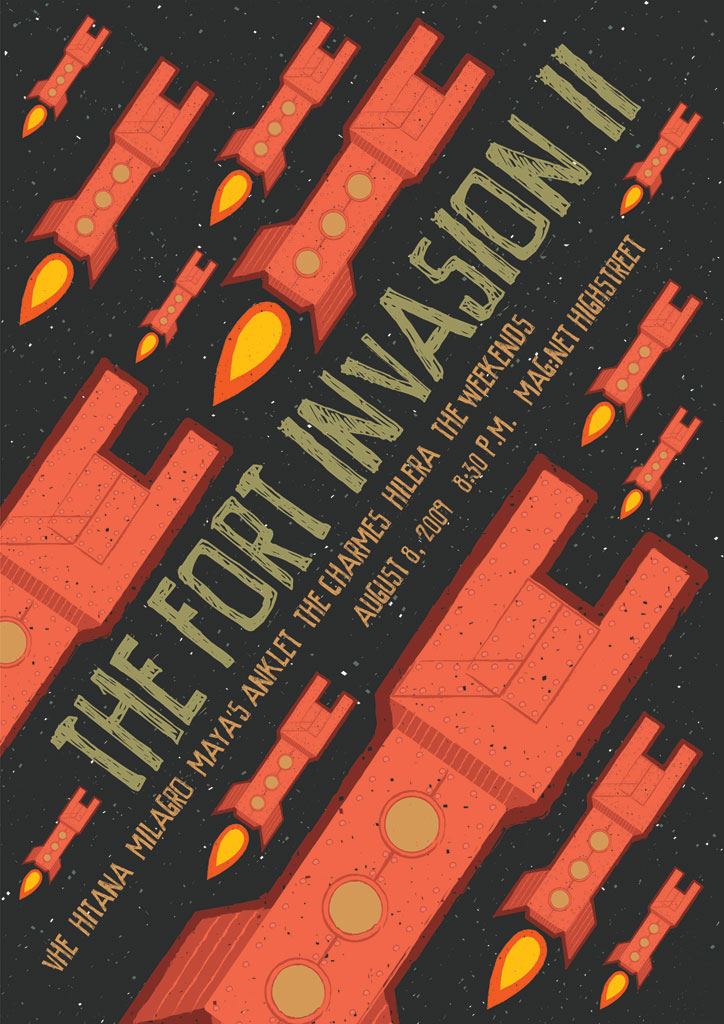 The Fort Invasion II Gig Poster