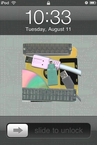 iPod Touch lock screen