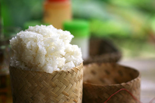 sticky rice by Khone - we ate this every meal in Laos by you.