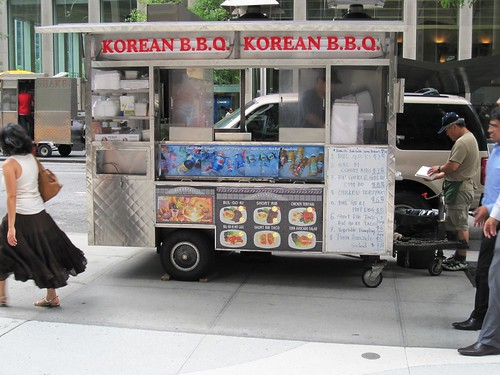 Korean BBQ food cart