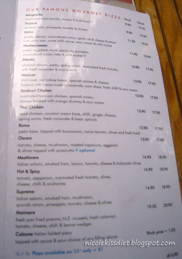 oscars menu