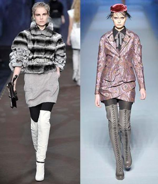 Fall 2009 thigh-high boots Fendi Etro