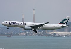 "B-HLU A330-343 ""Cathay Pacific"" (2nd oneworld aircraft for CX)"