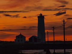Exchanging shifts (Ragna K) Tags: sunset lighthouse iceland reykjavk sland viti grtta slarlag seltjarnarnes supershot bej rubyphotographer flickrunitedwinner
