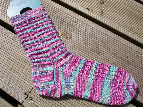 July Autobahn socks WIP