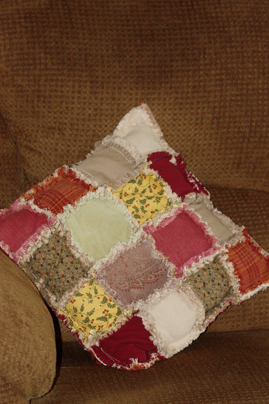 Rag Quilted Pillow