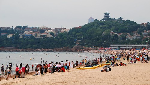 the beach at qingdao