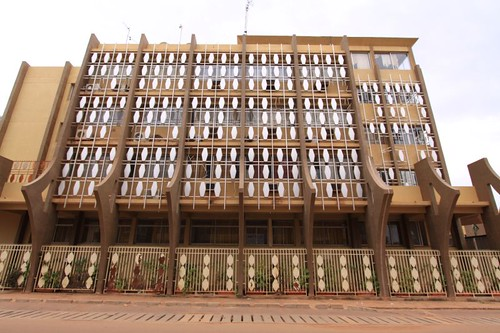 Architecture in Ouagadougou, Burkina Faso...