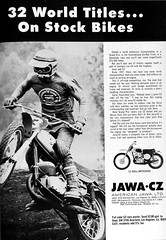 Vintage Advertisement (Lee Sutton) Tags: bike vintage racing advertisement dirt moto motorcycle cz 1970s 1972 motocross jawa
