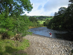 Dave beside the River Tees (Walruscharmer) Tags: england river countydurham davewilliams teesdale rivertees riverscene teesdaleway longdistancefootpath rnbtees leekworth redbridgefootballclubsupporter