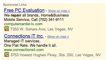 Iconos de negocios de Google Map