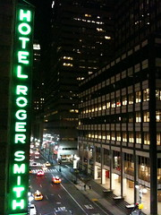 Roger Smith Hotel Marquee, NYC Night by jasonkeath, on Flickr