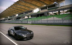 Aston Martin V8 Vantage in Sepang (anType) Tags: sports car grey asia track britain f1 racing exotic malaysia british kualalumpur circuit luxury coupe supercar astonmartin sepang sportscar transaxle v8vantage