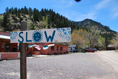 El Dorado Springs (Let Ideas Compete) Tags: sign warning spring colorado slow may el springs co essence dorado eldoradosprings