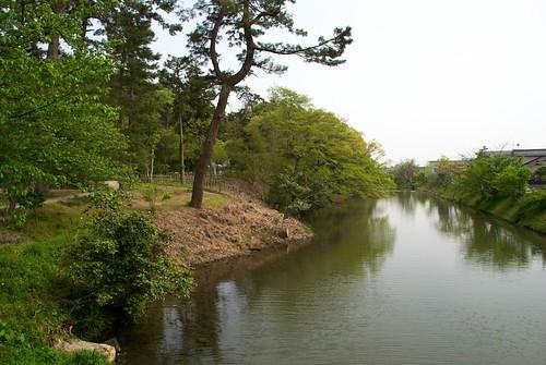 松江城のお堀