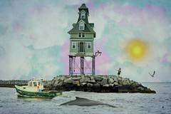 Ocean view (Sunset Sailor) Tags: ocean summer distorted fantasy whimsical higgledypiggledy