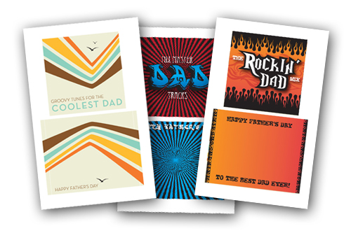 CD cover printables for Father's Day