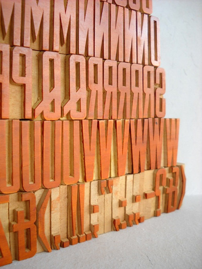 Woodtype | Full Set Close Up