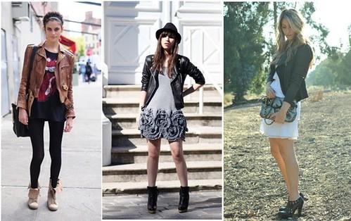 modelos de jaqueta de couro feminina